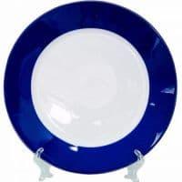 Тарелка d=20 см,каёмка синяя