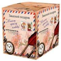 Подарочная коробка для кружки Винтажная посылка
