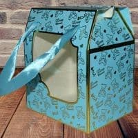 Коробка для кружки Голубая с окном