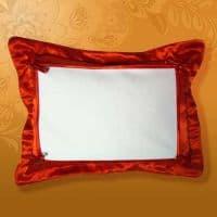 Подушка белла 45*35 красная, на пуговицах