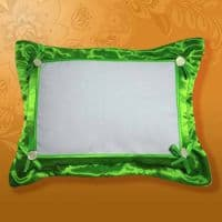 Подушка белла 45*35 зеленая, на пуговицах