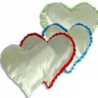 Подушка с наволочкой в виде сердца 38*38 см СЕРАЯ
