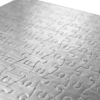 Пазл картонный  А4 серебро 20х29 см8Х15 эл.