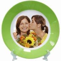 Тарелка d=20 см,каёмка зеленая
