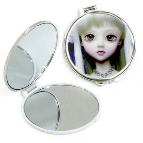 Зеркальце макияжное металлическое круглое d=4.8см