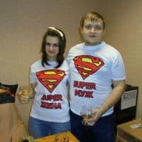 Парные футболки - Супермуж и Супержена