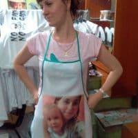 Фартук на кухню с фото для бабушки