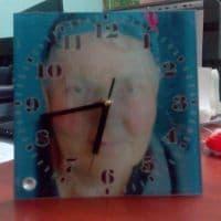 Часы-фоторамка квадратные