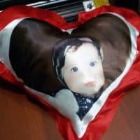 Подушка-сердце с фото