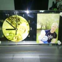 Часы-фоторамка прямоугольные под 2 фото_1