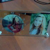 Часы-фоторамка прямоугольные под 2 фото_2