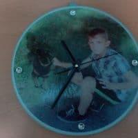 Часы-фоторамка настенные круглые 30 см_1