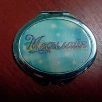Зеркальце овальное с логотипом
