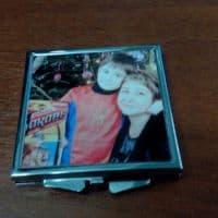 Зеркальце квадратное с фото