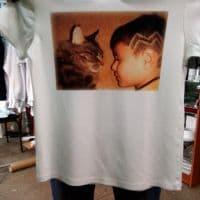 футболка с детской фотографией