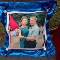 Подушка с наволочкой  СИНЯЯ _1