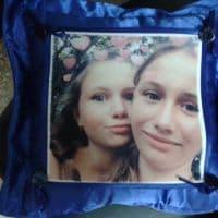 подушка синяя с фартуком _1