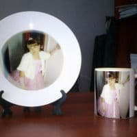 Тарелка и кружка с фото