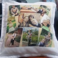 Подушка с коллажем из фото