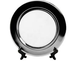 Тарелка металлическая круглая d=10см